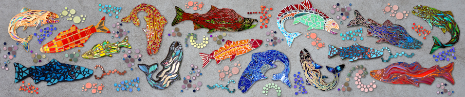 Cheryl Smith Mosaics FISH Mockup