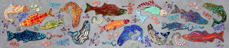Cheryl Smith Mosaics FISH Mockup